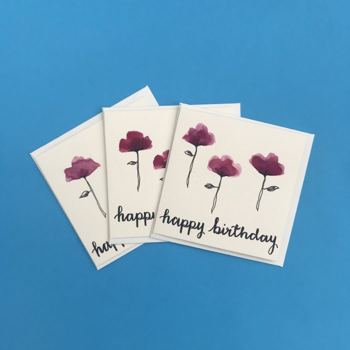 Happy Birthday Cards (pack of 3) - Look to the Light Designs