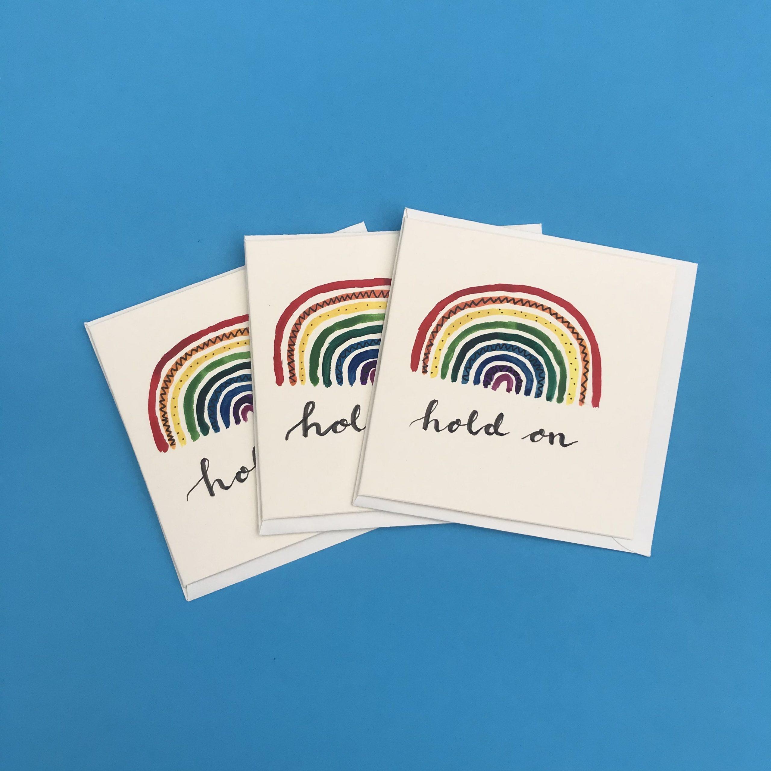 Hold On Rainbow Card Pack