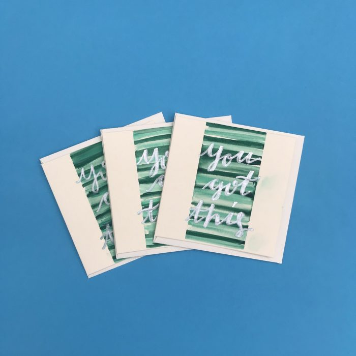 You Got This Watercolour Card Pack