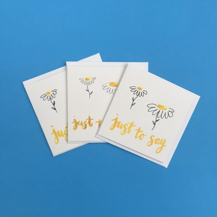 Just To Say Daisy Card Pack
