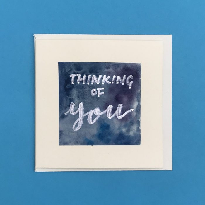 Thinking of You Watercolour Card