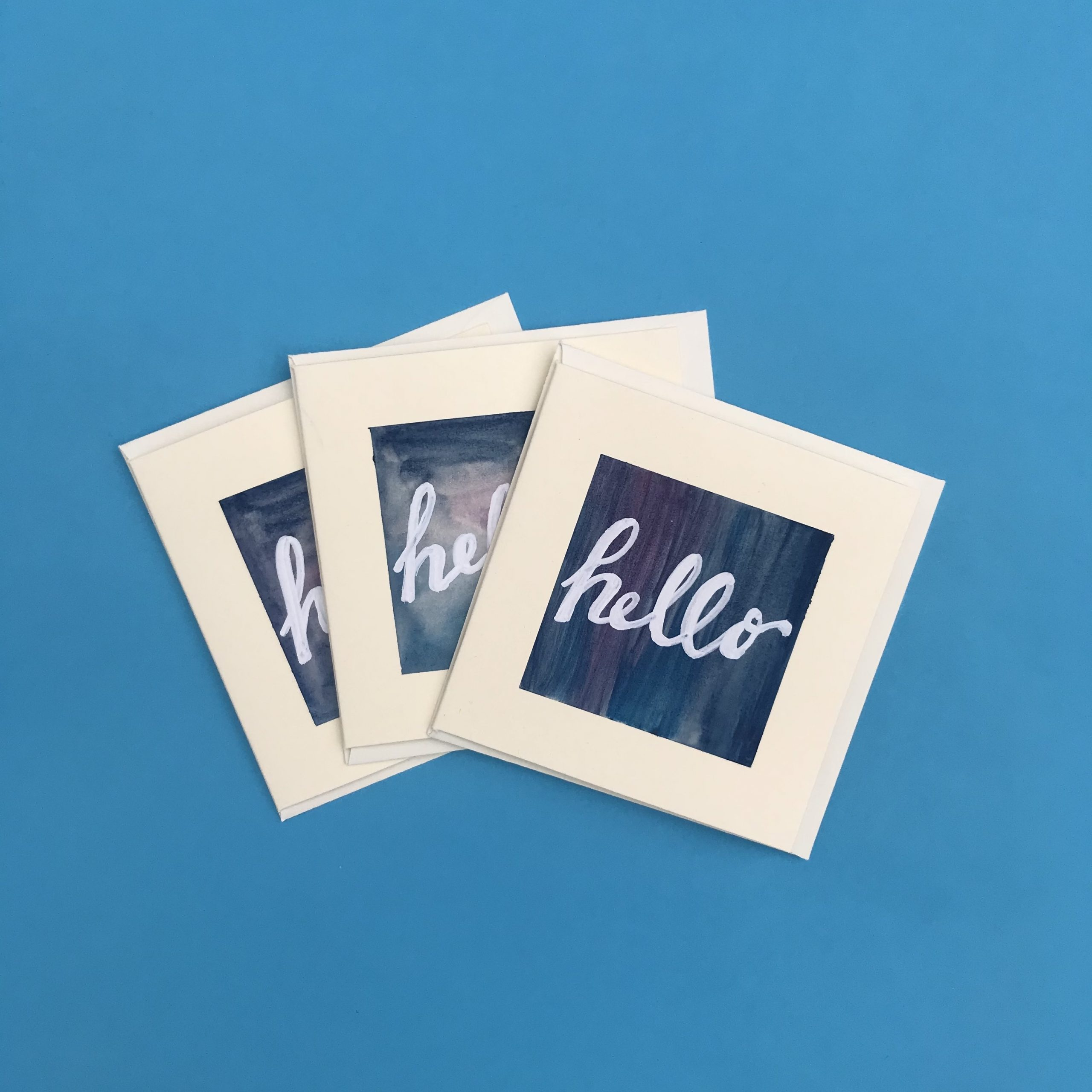 Hello Watercolour Card Pack