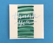 Thank You Watercolour Card
