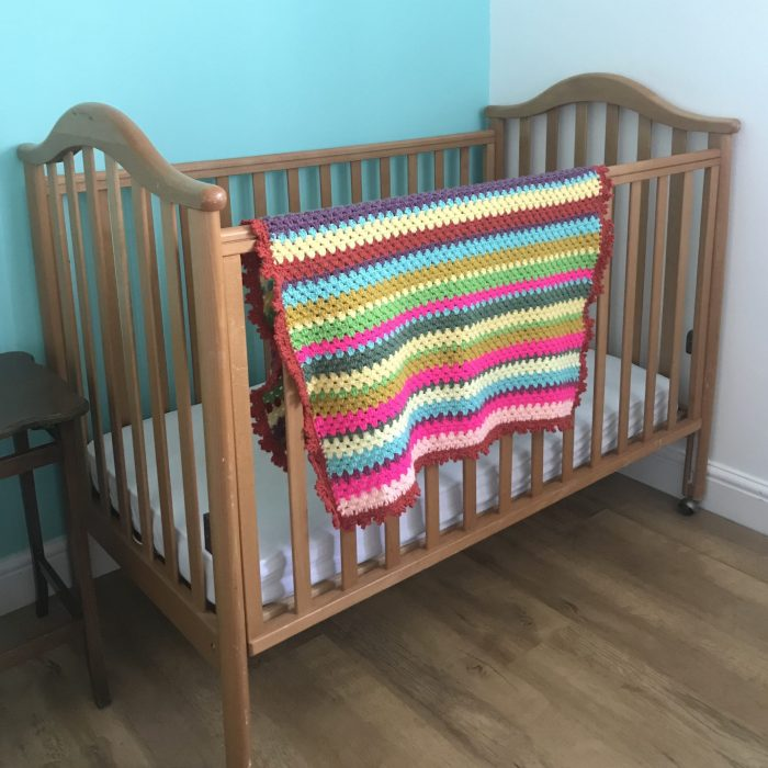 Bright Colours Crocheted Blanket