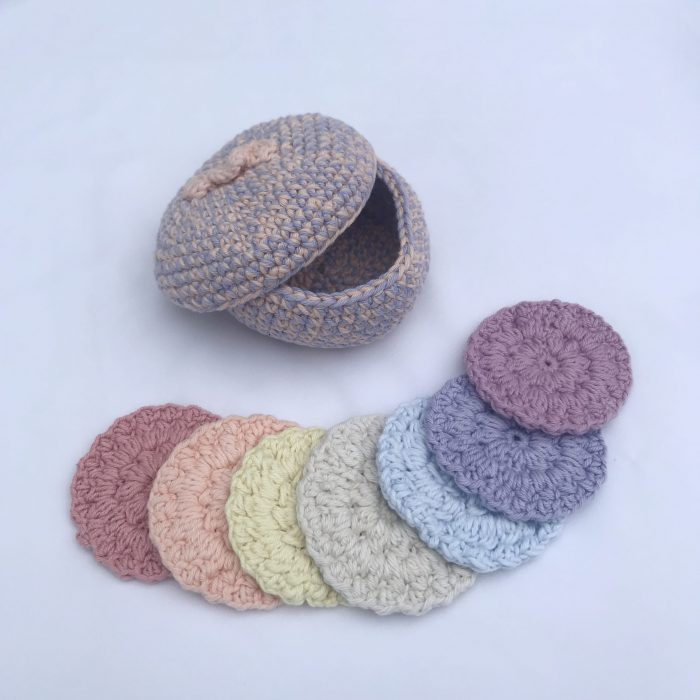 Crocheted Scrubbies in Rainbow Colours