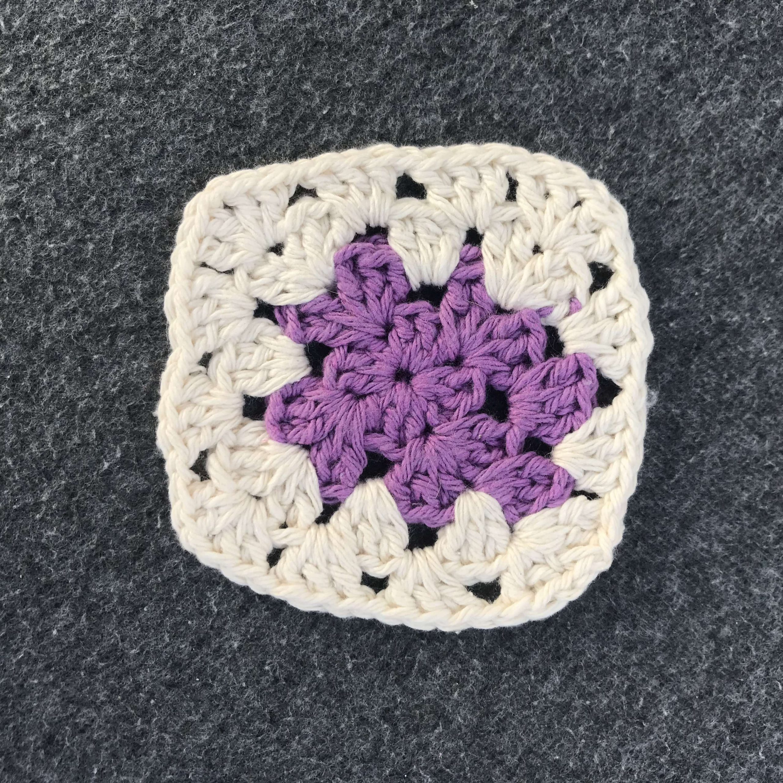 Crocheted Coasters in Mauve and Cream