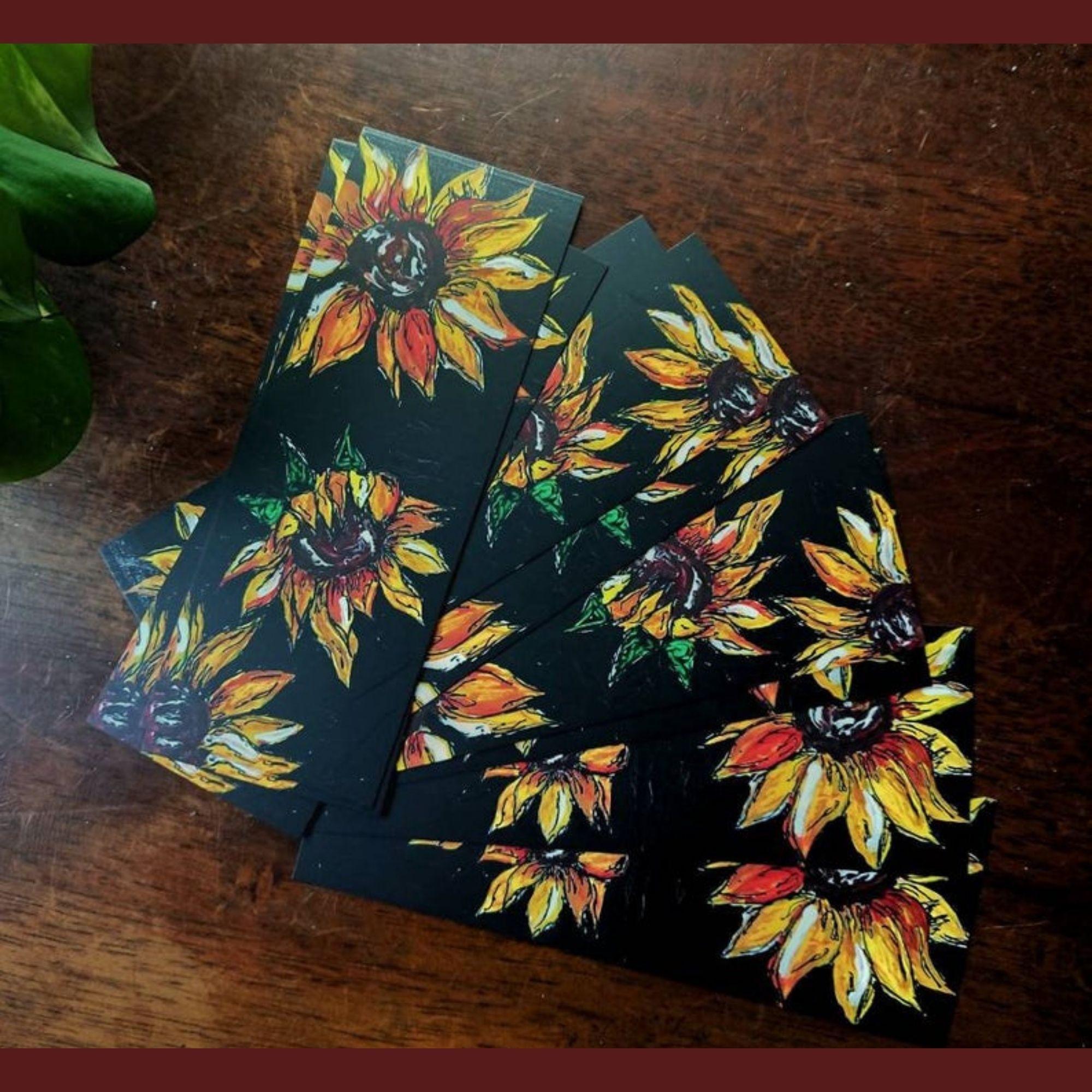 'autumnal sunflowers' Bookmark