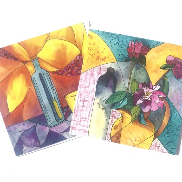 Peony and Sunshine Cards
