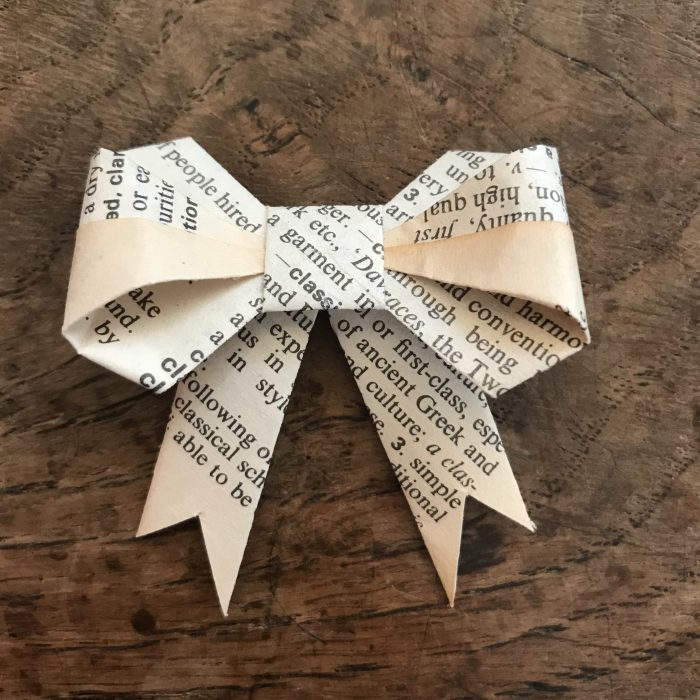 Book Page Bows