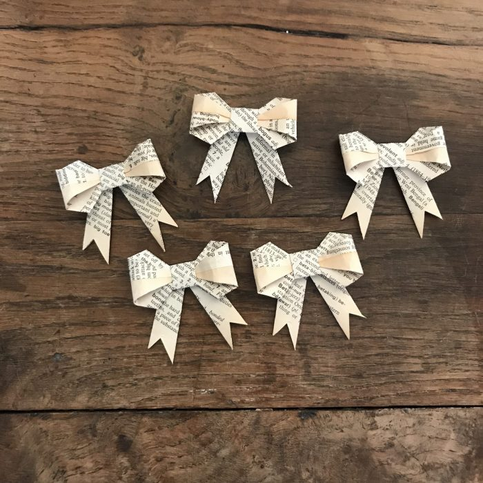 Book Page Bows - 5