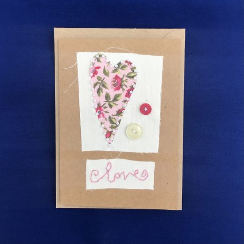 Hand stitched love cards