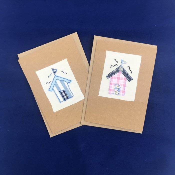 Hand stitched plain cards